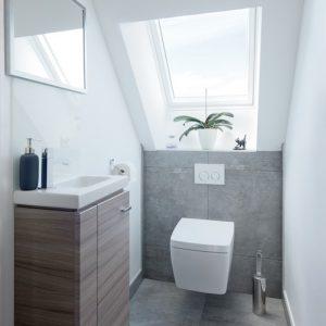 Construction à toiture deux pans - toilettes