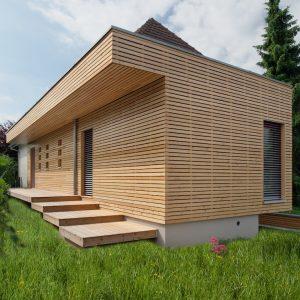 Extension et rénovation - côté de la maison avec ajout sur volume existant