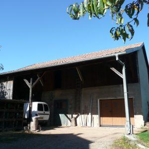Réhabilitation d'une grange - façade avant, avant rénovation