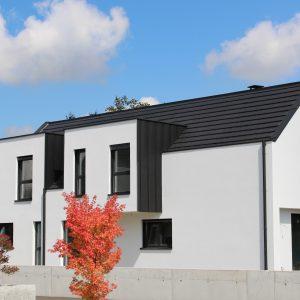 Construction à toiture deux pans - façade avant