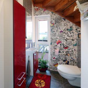 Rénovation à toiture deux pans - toilettes